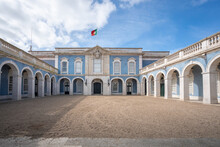 Palace Of Queluz Facade With Portuguese Flag - Queluz, Portugal