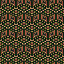 Seamless Pattern Abstraction Of Green Diamonds And Squares