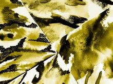 Yellow Pattern. Cute Tiger Illustration. Black