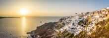 Oia Panorama At Sunset, Santorini (Thira), Greece