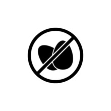 Eggs Banned Icon In Vegan Set