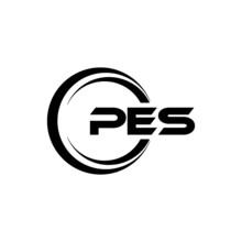 PES Letter Logo Design With White Background In Illustrator, Vector Logo Modern Alphabet Font Overlap Style. Calligraphy Designs For Logo, Poster, Invitation, Etc.