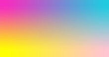 Fuchsia, Turquoise, Yellow, Pink Gradient Wallpaper Background Vector Illustration