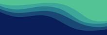 Modern Waves Blue Green Color Vector Illustration Good For Wallpaper, Background, Web Banner, Backdrop,  Desktop Wallpaper, And Design Template