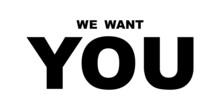 We Want You Simple Illustration