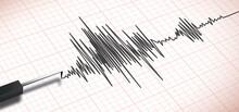 Close Up Of An Earthquake Seismograph Polygraph Machine Vector
