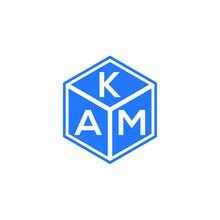 KAM Letter Logo Design On White Background. KAM Creative Initials Letter Logo Concept. KAM Letter Design.