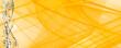 canvas print picture - Weihnachten Hintergrund Abstrakt Sterne und Schneeflocken gelb weiß gold mit Linien und Wellen Banner