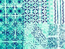 Geometric Plaid.  Decorative Plaid.  African
