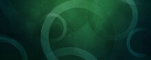 Green Geometric With Circles Or Rings Abstract Futuristic Background
