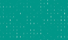 Seamless Background Pattern Of Evenly Spaced White Beer Bottle Symbols Of Different Sizes And Opacity. Vector Illustration On Teal Background With Stars