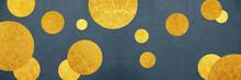 金の水玉模様