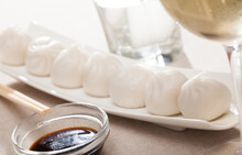 Plate Of Appetizing Steamed Dim Sum - Traditional Chinese Dish