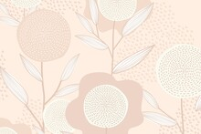 Feminine Floral Patterned Background In Pink