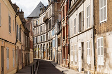 France, Yonne Department, Auxerre, Houses Along Old Town Alley