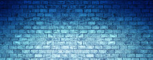 Blue Bricks Wall Background