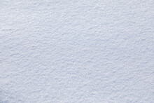 Natural Snow Texture. Smooth Surface Of Clean Fresh Snow. Snowy Ground. Perfect For Christmas And New Year Design.