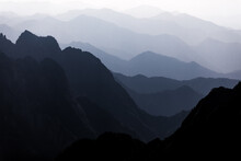 Yellow Mountains (Huangshan) Landscape In The Afternoon