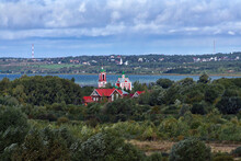 Сhurch Of The Forty Martyrs On The Shore Of Lake Pleshcheyevo And View Of Pereslavl-Zalessky, Russia