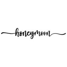 Honeymoon Handwritten Text Script Stile