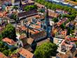 canvas print picture - Konstanz von oben - Luftbildfotografie