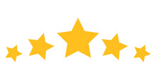 5 Star Rating Icon With Flat Style. Isolated Vector 5 Star Rating Icon Illustrations, Simple Style.