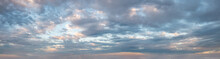 Clouds In The Sky All The Way To Horizon Line Taken Early Evening Just Before Sunset