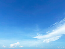 View Of Dense, Heavy, Big Clouds And Blue Sky