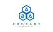 ABA three letters creative polygon hexagon logo