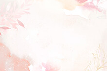 Flower Background Pink Border Vector, Remixed From Vintage Public Domain Images