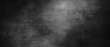 Dark Gray Cement Scratches For The Background. Foggy Black Cement. Shabby Dark Walls