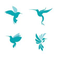 Humming Bird Vector Icon Design Illustration