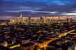 canvas print picture - Frankfurt Panorama Eastview 3