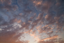 Scenic View Of Clouds Floating In The Air During Sunset