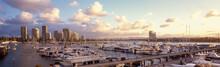 Boats Moored In Marina At Marina Mirage In Surfers Paradise - Australia