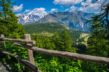 Green Landscape Of The Alps In Italy