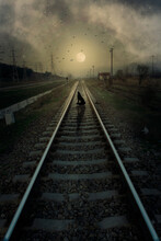 Railway In The Naight