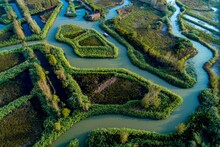 Tourists Visit The Hongze Lake Wetland Reed Maze Scenic Area In Suqian City, East China's Jiangsu Province On Oct. 6, 2021, The Sixth Day Of The National Day Holiday.