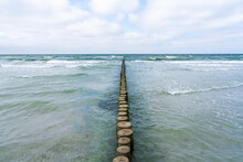 Breakwater At The Baltic Sea On Hiddensee