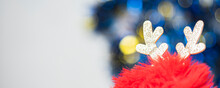 An Image Select Focus Reindeer And Blur Bokeh Images Include Colors For Facebook Cover Use As Background Or Christmas Festival Wallpaper.
