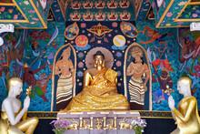 Buddha Statue At Wat Ming Muang Temple, Chiang Rai, Thailand