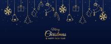 Realistic Christmas Background Flat Design
