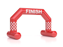Inflatable Gate As Finish Line On White Background 3d Rendering