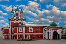 Our Lady Of Smolensk Church. Epiphany Monastery , City Of Uglich, Russia. Years Of Construction 1689 -1692