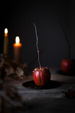 A Salted Caramel Apple And Candle