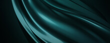 Modern Green Futuristic Cyberspace Abstract Metallic Chrome Wave Background For Headers, Website And Wallpaper