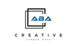creative initial letters ABA square logo design concept vector
