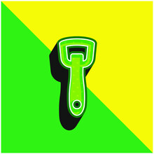 Bottle Opener Green And Yellow Modern 3d Vector Icon Logo