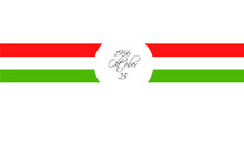 Isolated On White Tricolor Ribbon Overlay Symbol Of The Hungarian National Day 23 October 1956 Uprising