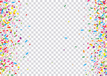Blue Circle Background Transparent Vector. Polka Holiday Card. Fest Texture. Bright Geometric Wallpaper Frame. Rainbow Paper.